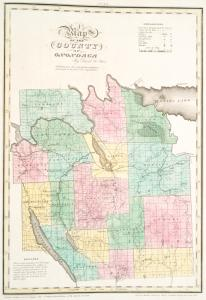 Map of the county of Onondaga / by David H. Burr ; engd. by Rawdon, Clark & Co., Albany, & Rawdon, Wright & Co., New York.