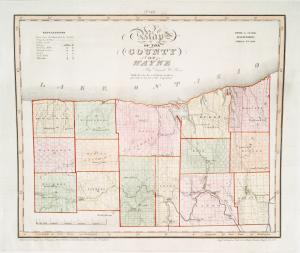 Map of the county of Wayne / by David H. Burr ; engd. by Rawdon, Clark & Co., Albany, & Rawdon, Wright & Co., New York.