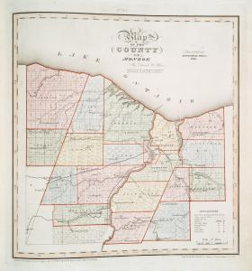 Map of the county of Monroe / by David H. Burr ; engd. by Rawdon, Clark & Co., Albany, & Rawdon, Wright & Co., N.Y.