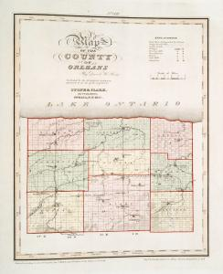 Map of the county of Orleans /  by David H. Burr ; engd. by Rawdon, Clark & Co., Albany, & Rawdon, Wright & Co., New York.