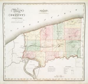 Map of the county of Niagara / by David H. Burr ; engd. by Rawdon Clark & Co., Albany, & Rawdon, Wright & Co., N. York.