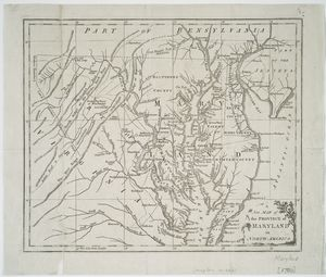 A New map of the province of Maryland in North America.