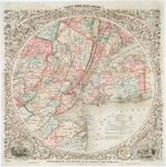 Map of the country thirty three miles around the city of New York