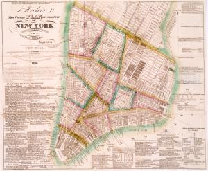 Hooker's new pocket plan of the city of New York / compiled & surveyed by William Hooker, engraver, No. 5 Pine Street, New-York, removed to 18 Tillary St., Brooklyn.
