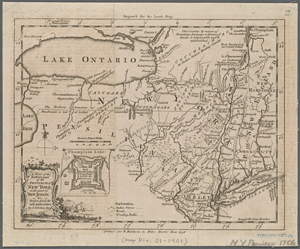 A map of the eastern part of the province of New York with part of New Jersey, &c / drawn from the best authorities, by T. Kitchin, geogr.