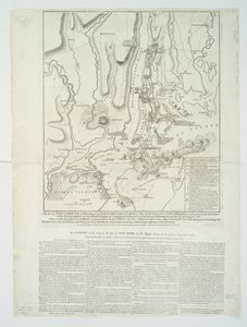 A plan of New York Island, with part of Long Island, Staten Island & east New Jersey : with a particular description of the engagement on the woody heights of Long Island, between Flatbush and Brooklyn, on the 27th of August 1776 between His Majesty's forces commanded by General Howe and the Americans under Major General Putnam, shewing also the landing of the British Army on New-York Island, and the taking of the city of New-York &c. on the 15th of September following, with the subsequent disposition of both the armies / engraved & publish'd by ... Wm. Faden.