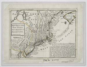 New England, New York, New Jersey and Pensilvania / by H. Moll, geographer.