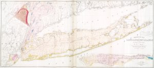 Geological map of Long & Staten islands with the environs of New York / by W.W. Mather, geologist of the First District of New York, 1842 ; from the topographical surveys of J. Calvin Smith.