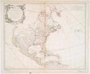Amérique septentrionale : dressée sur les relations les plus modernes des voyageurs et navigateurs, et divisée suivant les differentes possessions des européens / par le Sr. Robert de Vaugondy, fils de Mr. Robert, géographe ordin. du Roy, 1750.