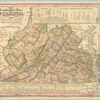 The travellers pocket map of Virginia : with its canals, rail-roads & distances from place to place along the stage roads