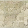 A map of the British and French dominions in North America, with the roads, distances, limits, and extent of the settlements, humbly inscribed to the Right Honourable the Earl of Halifax, and the other Right Honourable the Lords Commissioners for Trade & Plantations