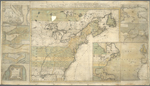 A new and accurate map of the English empire in North America : representing their rightful claim as confirm'd by charters and the formal surrender of their Indian friends, likewise the encroachments of the French, with the several forts they have unjustly erected therein