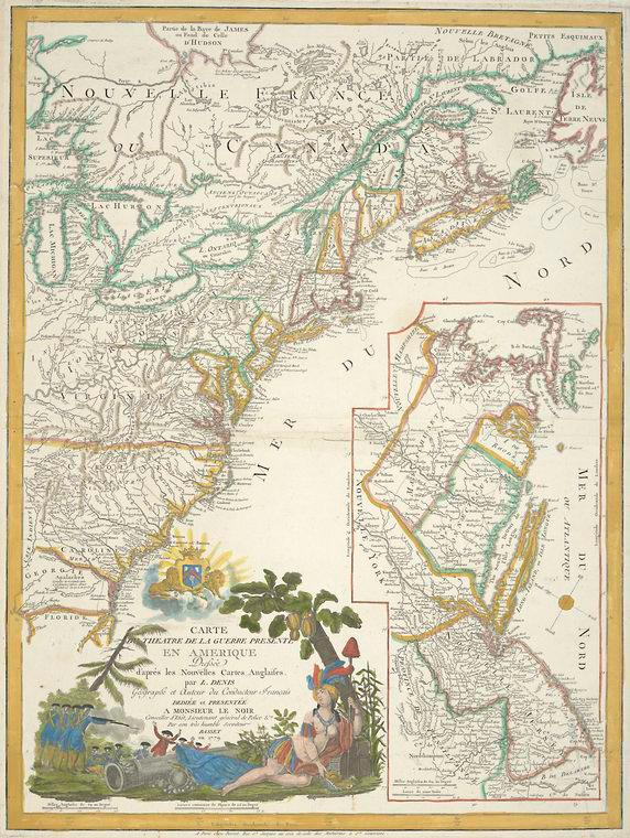 This is What Louis Denis and Carte du theatre de la guerre presente en Amerique dress?e dapr?s les nouvelles cartes anglaises Looked Like  in 1779