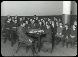 Work with schools, Harlem Branch : Harlem Library Boys League, May 10, 1916.