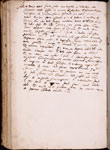 Text in later hand, describing theatrical performance in Vicenza in 1585.