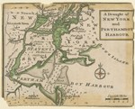 A draught of New York and Perthamboy Harbour.
