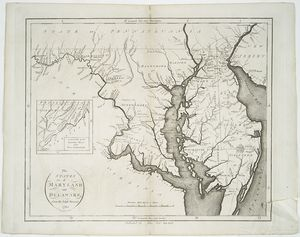 The states of Maryland and Delaware, from the latest surveys, 1795 / D. Martin, sculpt. N. York.