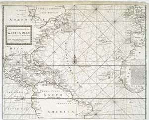 A new generall chart for the West Indies, of E. Wrights projection vul. Mercators chart / H. Moll f.