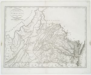 The State of Virginia from the best authorities, 1796 / B. Tanner sculpt.