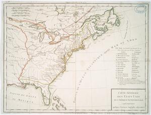 Carte générale des Etats Unis de l'Amérique Septentrionale, : renfermant aussi quelques provinces Angloises adjacentes / Tardieu sculp. ; André scrip.