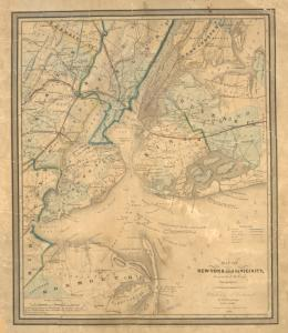Map of New-York and its vicinity / drawn by D.H. Burr, geographer ; engraved by S. Stiles, Sherman & Smith.