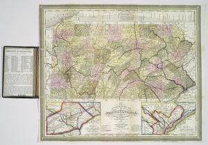The tourist's pocket map of Pennsylvania : exhibiting its internal improvements, roads, distances &c. / by J.H. Young ; D. Haines, sc.