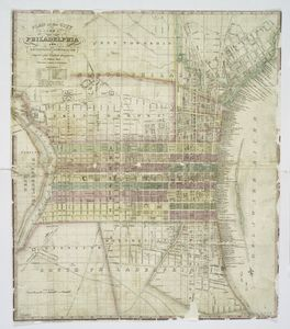 Plan of the city of Philadelphia and adjoining districts / compiled from original documents by William Allen ; engraved by Wm. Allen & Wm. W. Warr.