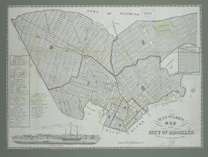 Hayward's map of the city of Brooklyn : (copied from the Commissioner's map).