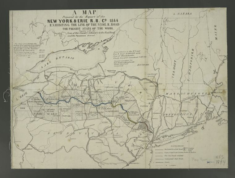 Fascinating Historical Picture of New York and Erie Railroad Company in 1844