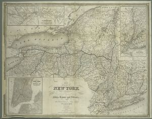 Map of the state of New York : showing the boundaries of counties & townships, the location of cities, towns and villages, the courses of rail roads, canals & stage roads / by J. Calvin Smith ; engraved on steel by Sherman & Smith.
