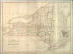 Map of New York exhibiting the post offices, post roads, canals, rail roads &c.