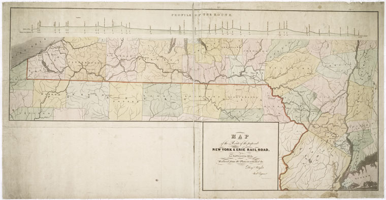 This is What New York and Erie Railroad Company Looked Like  in 1834