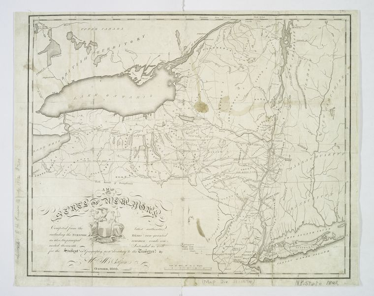 A map of the state of New York : compiled from the latest authorities : including the turnpike roads now granted as also the principal common roads connected there with / by Wm. McCalpin.
