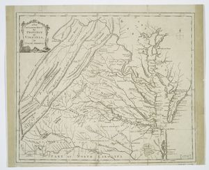 A new and accurate map of the province of Virginia in North America.