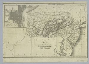 Map of the states of Pennsylvania and New Jersey / engraved & printed by Fenner Sears & Co.
