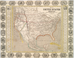 Map of the United States and Mexico : including Oregon, Texas and the Californias