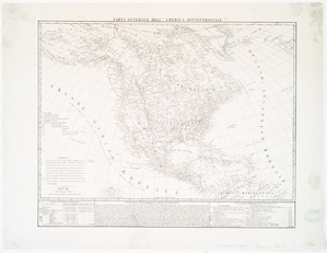 Carta generale dell' America Settentrionale.