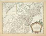 Partie de l'Amerique septentrionale, qui comprend le cours de l'Ohio, la Nlle. Angleterre, la Nlle. York, le New Jersey, la Pensylvanie, le Maryland, la Virginie, la Caroline