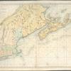 Carte réduite des côtes orientales de l'Amérique septentrionale: contenant celles des provinces de New-York et de la Nouvelle Angleterre, celles de l'Acadie ou Nouvelle Ecosse, de l'Île Royale de l'Île St. Jean, avec l'intérieur du pays dressée au Dépôt général des cartes, plans et journaux de la marine