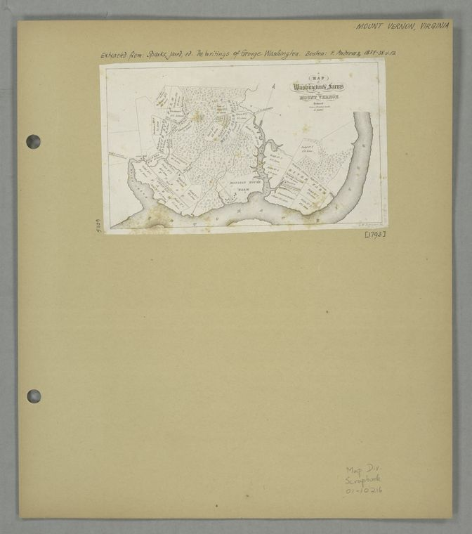 Map of Washington's farms at Mount Vernon / reduced from a drawing made by himself ; G.W. Boynton sc.