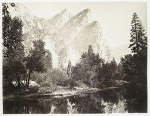 The Three Brothers, 4480 ft., Yosemite.