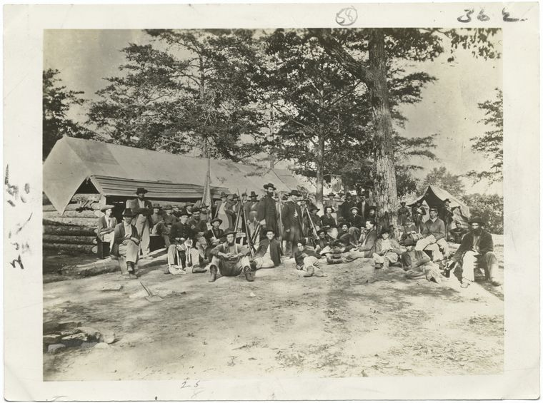 Federal Troops in Camp.