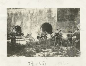 Battery 'F', Fifth United States Field Artillery, at the Third Gate to the Forbidden City.