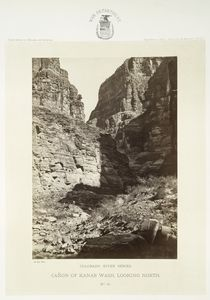 Cañon of Kanab Wash, looking north.  Colorado River Series.  No. 19.
