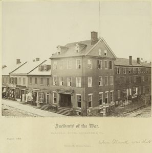 Incidents of the war : Marshall house, Alexandria, Va.