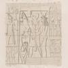 Aethiopen. Begerauîeh  [Begrawiya]. Pyramidengruppe A. Pyr. 9. Westwand.
