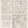 Aethiopen. Begerauîeh [Begrawiya]. Pyramidengruppe A: a.  Pyr. 31. Südwand; b. Pyr. 32. Nordwand; c. Pyr. 35. Einzelner Block; d. Pyr. 38. Westwand. [d. zum Theil im K. Museum zu Berlin.]