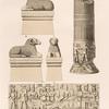 Aethiopen. a-c. Naga [Naqa]. Widder vor Tempel d ; d.e. Wadi E' Sofra [Mu.sawwarat al-.Sufrah Site]. Nordwestlicher Tempel, Säulen.