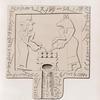 Meroitisch-Aethiopische Inschriften No. 44.  Pyramiden von Meroë, Gruppe A:  Libationstafel aus Pyr. 27. [ jetzt im K. Museum zu Berlin.]
