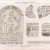 Meroitisch-Aethiopische Inschriften No. 45-50.  45, 46. Pyramiden von Meroë, Gruppe C ; 47-49 aus den Stadtruinen von Meroë; 50. Inschrift aus Wadi  E'Sofra [Musawwarat al-Sufrah Site]. [45, 46, 48, 49.  jetzt im K. Museum zu Berlin.]